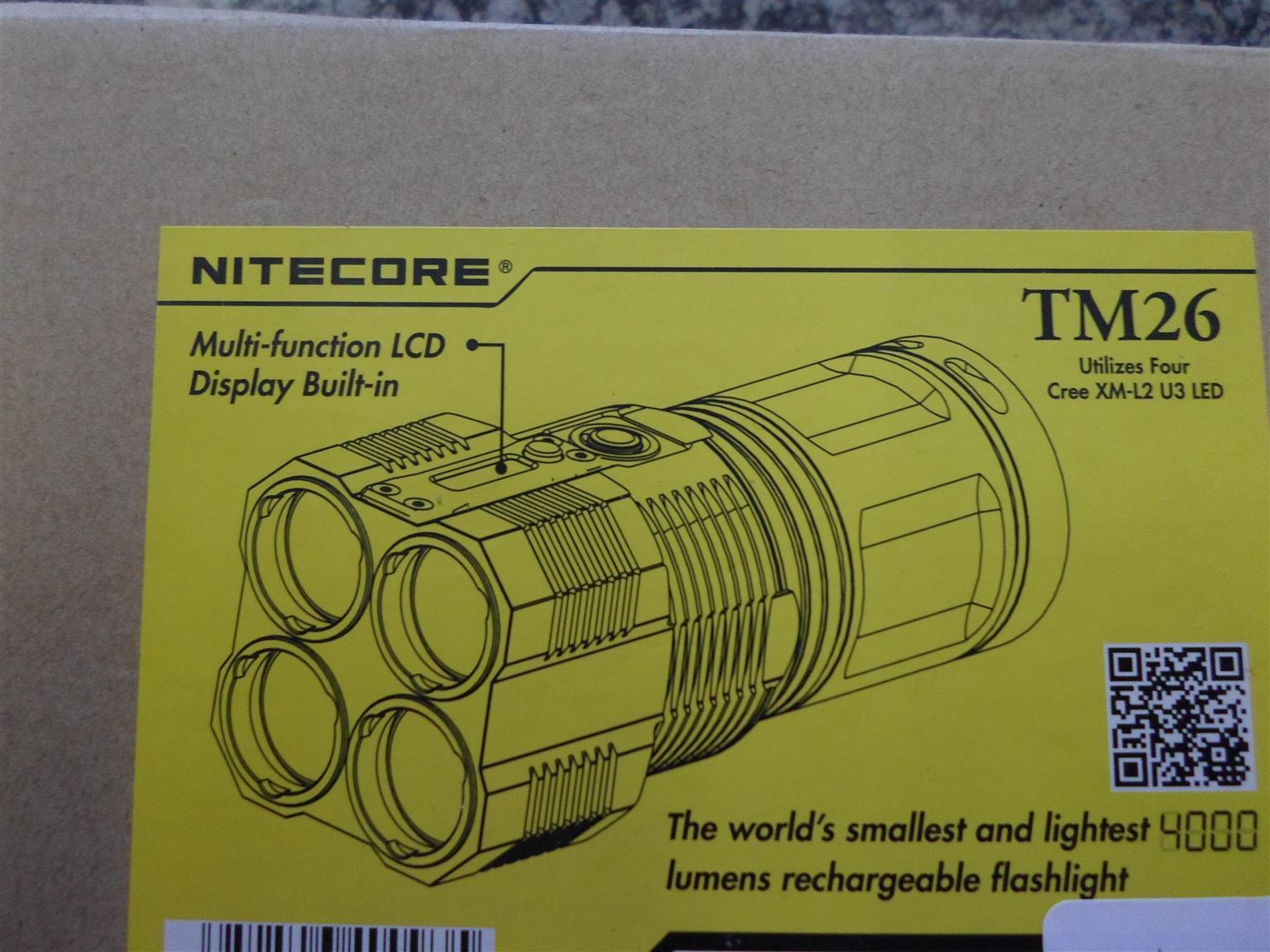 Nitecore 4000 Lumens Flashlight