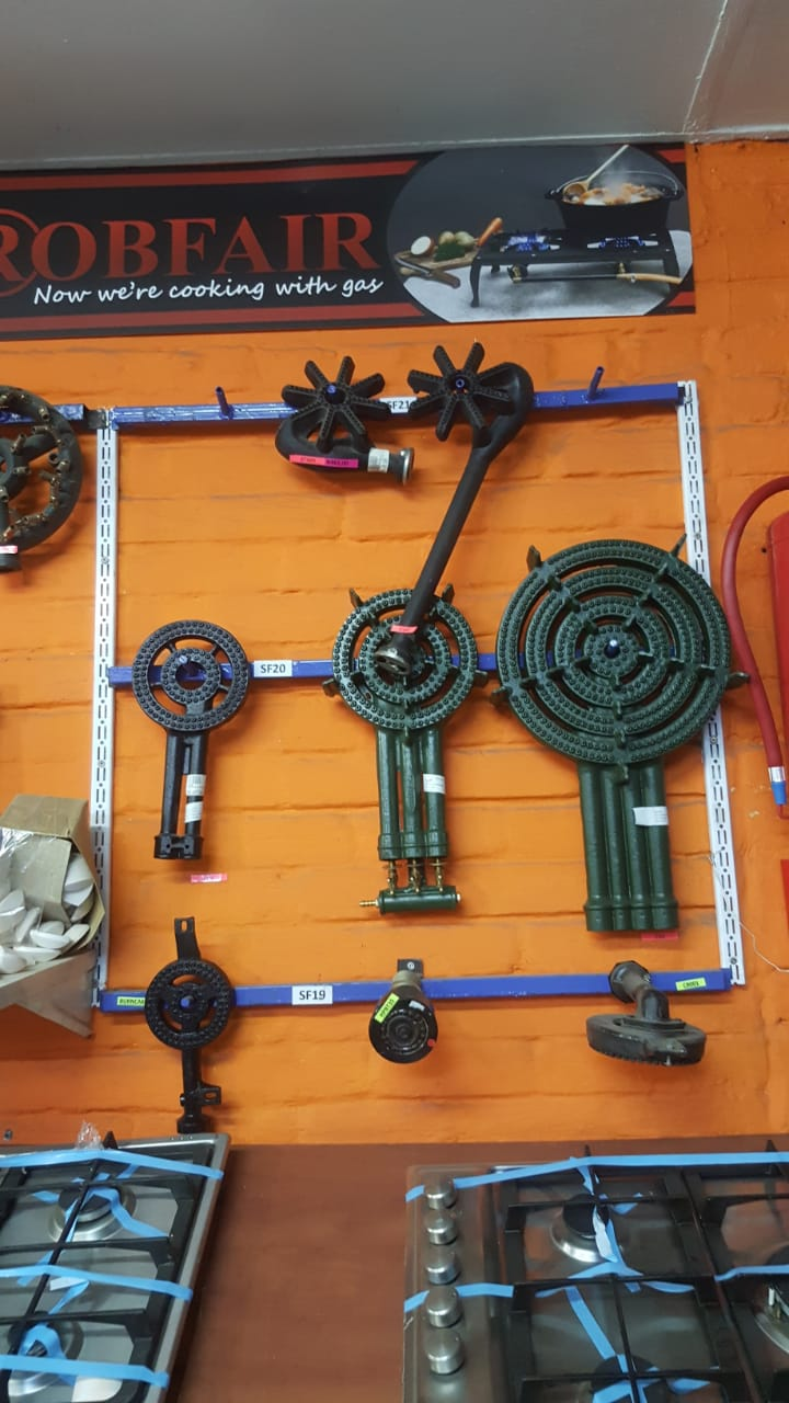 Variety of burners in stock