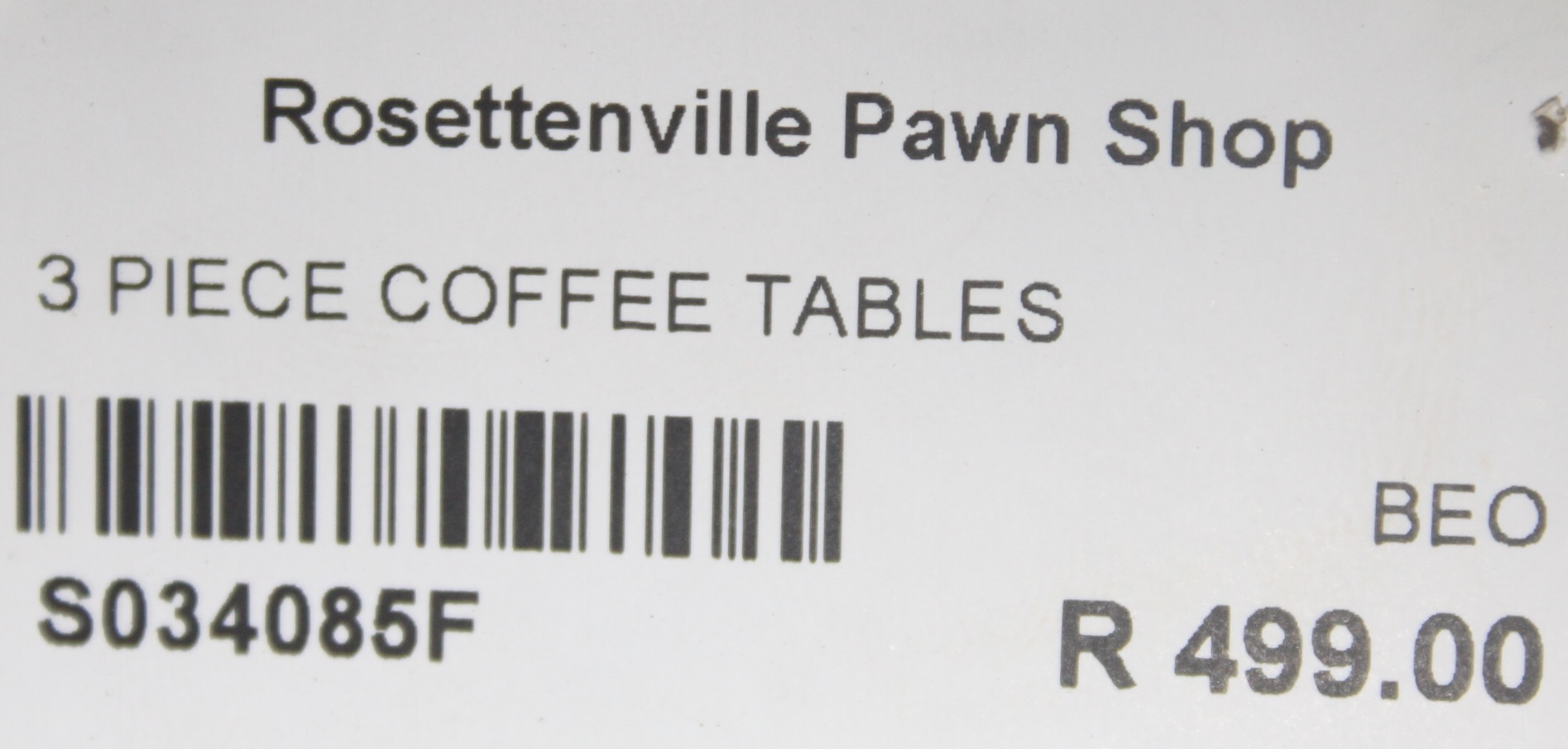 S034085F 3 Piece coffee tables #Rosettenvillepawnshop