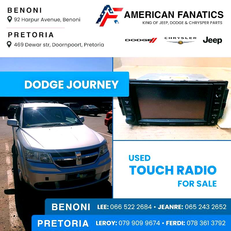 Selling Dodge Journey used Touch Radio and other parts #7