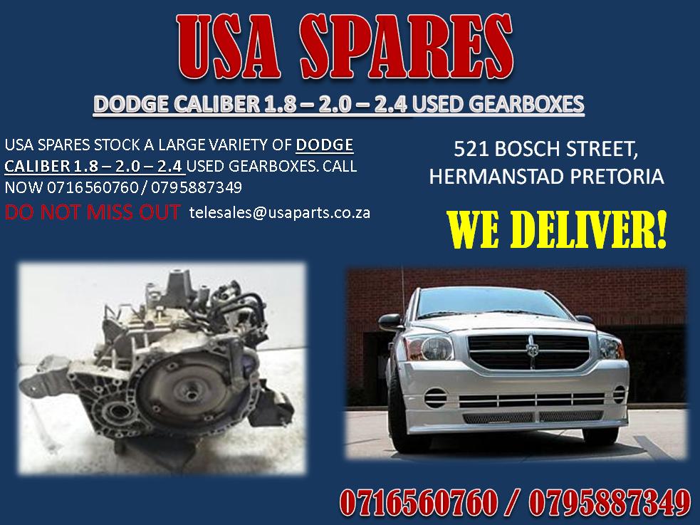 DODGE CALIBER GEARBOX . USA SPARES