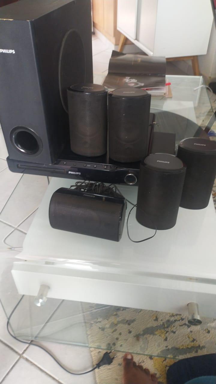DVD player, speakers, decoders