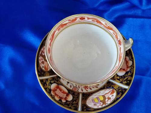 GEORGIAN IMARI PATTERN CUP & SAUCER CIRCA 1820, NEAR MINT CONDITION!!! 198 YEARS OLD!!