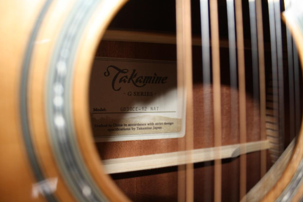 Takamine 12-String Acoustic Guitar (GD30CE-12) Solid Top