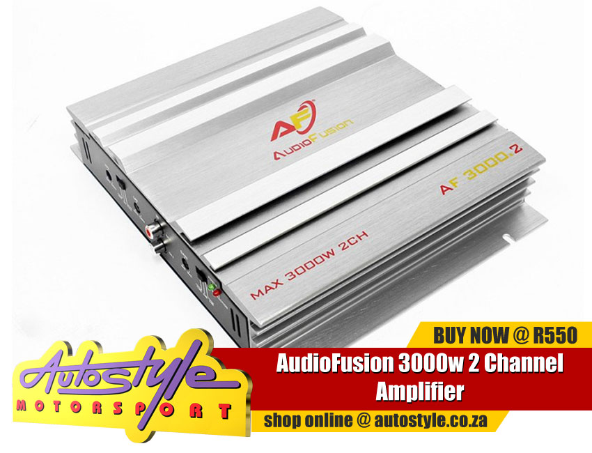 AudioFusion 3000w 2 Channel Amplifier