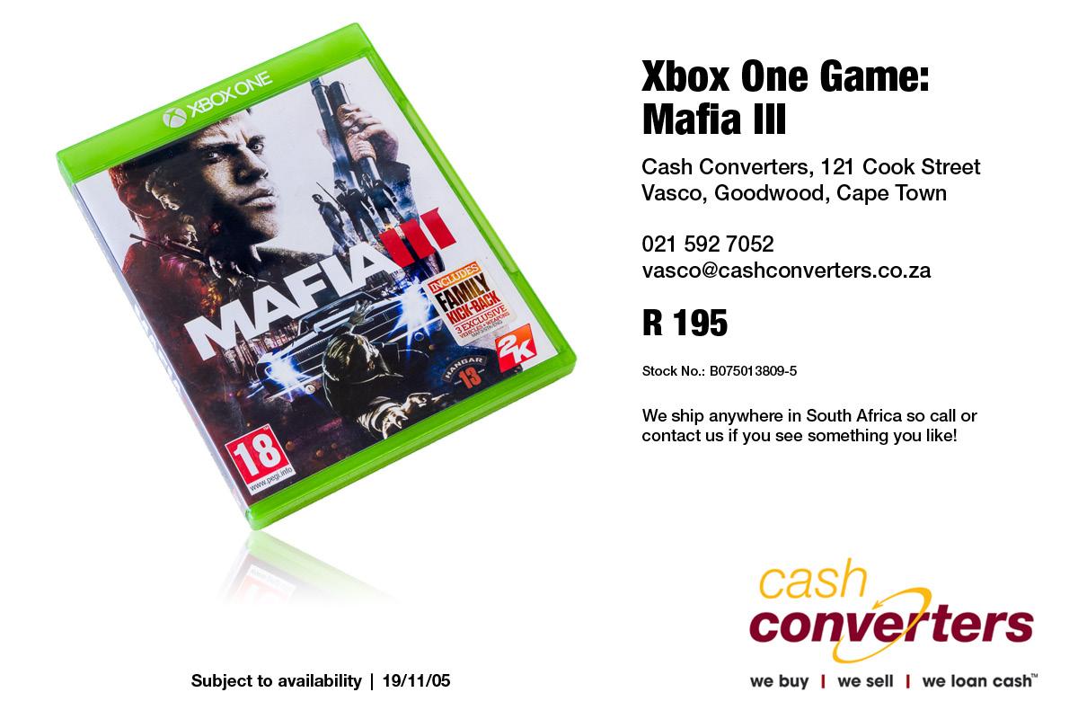 Xbox One Game: Mafia III