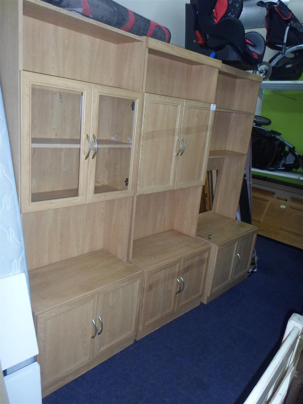 Wooden 3pc.  Wall Unit - B033049724-1