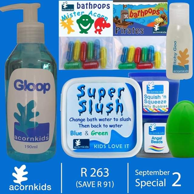 Acorn kids bath time products