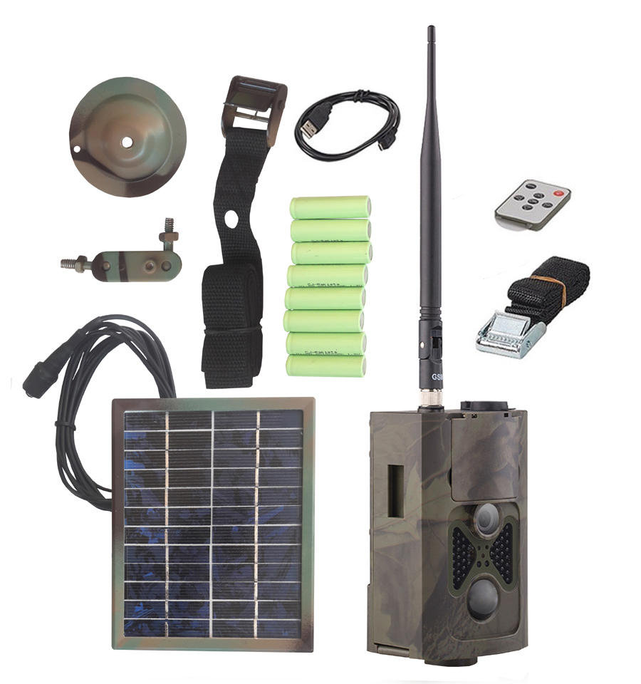 GSM Trail camera (16 megapixel) with solar panel