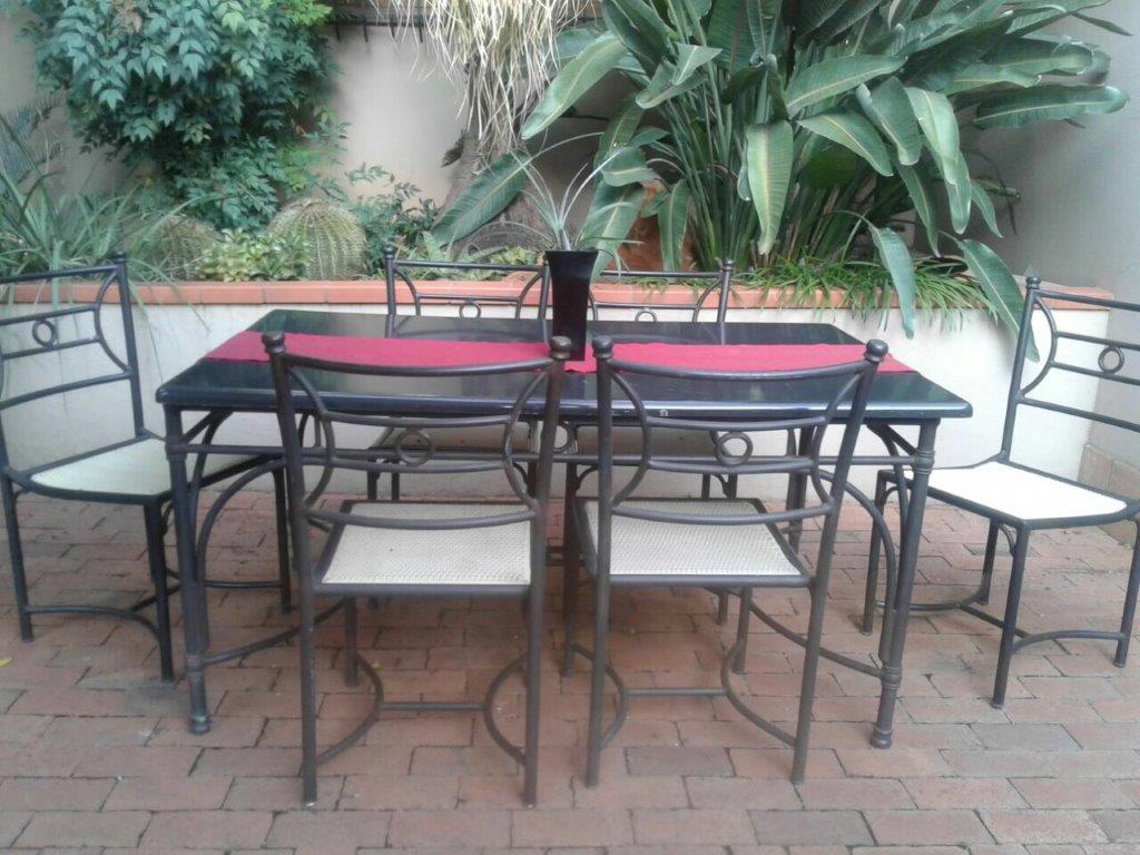 Patio Set Wetherlys Steel Aluminium Frame Table With Concrete Composite Top 6 X
