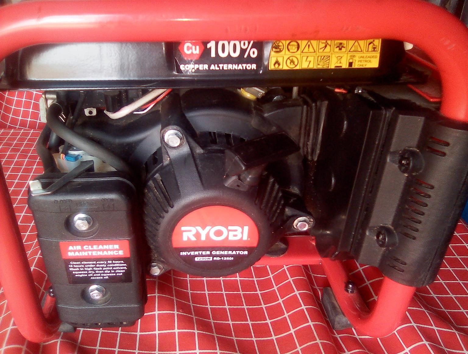 1200w Ryobi inverter generator