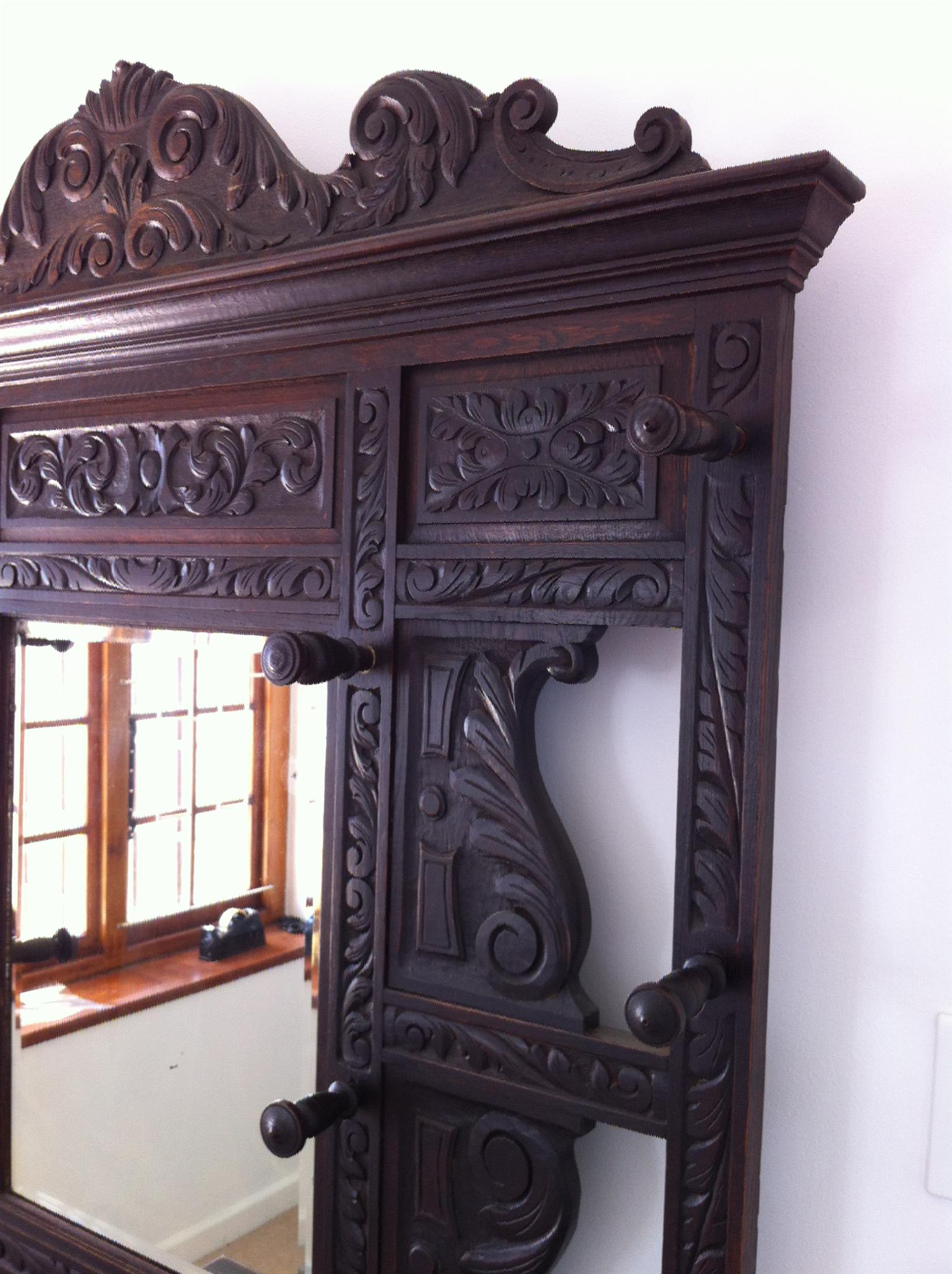 "Rare Victorian "" Green Man"" Hall Stand"