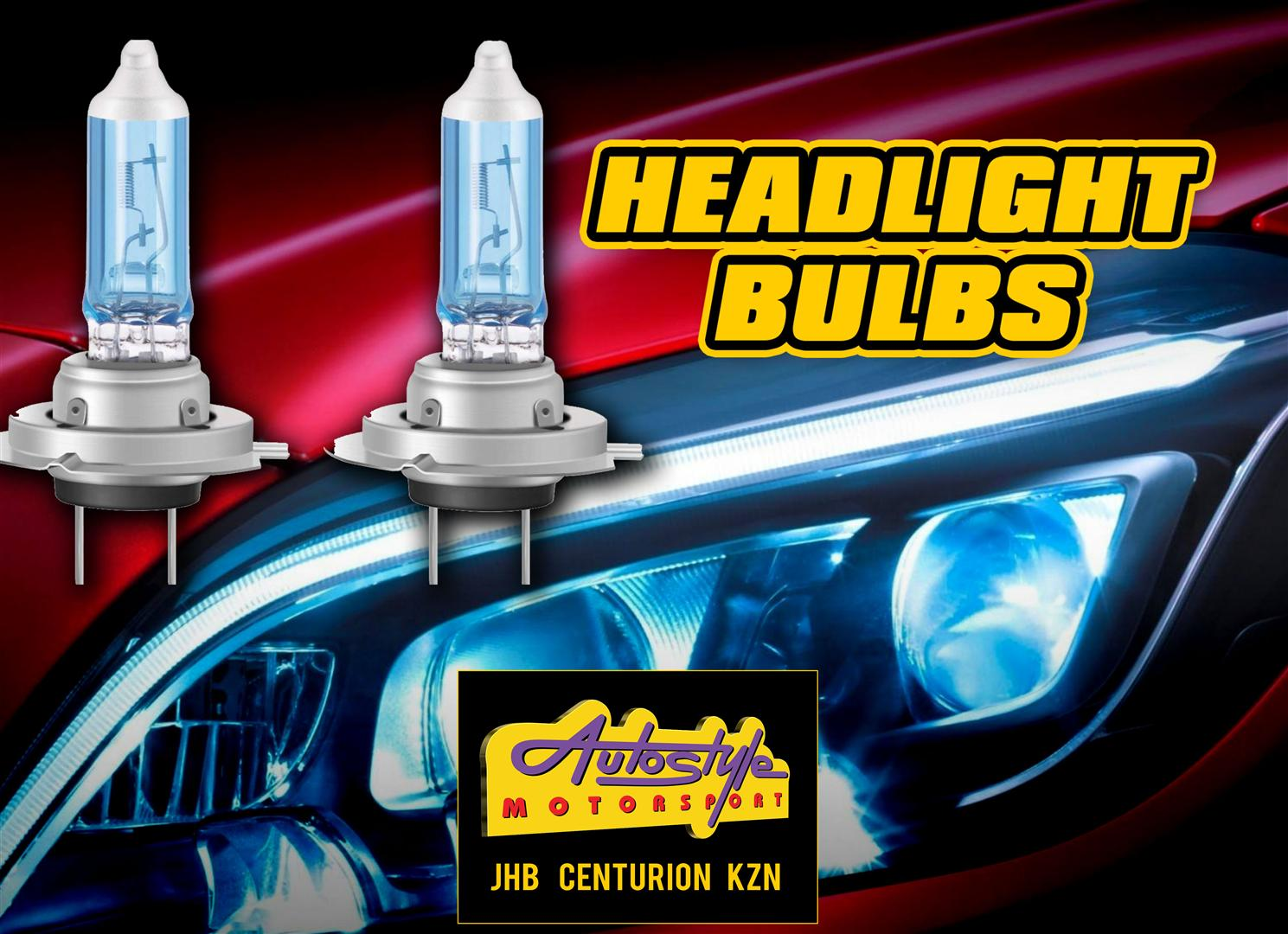 Replacement headlight globes assorted sizes and brands.