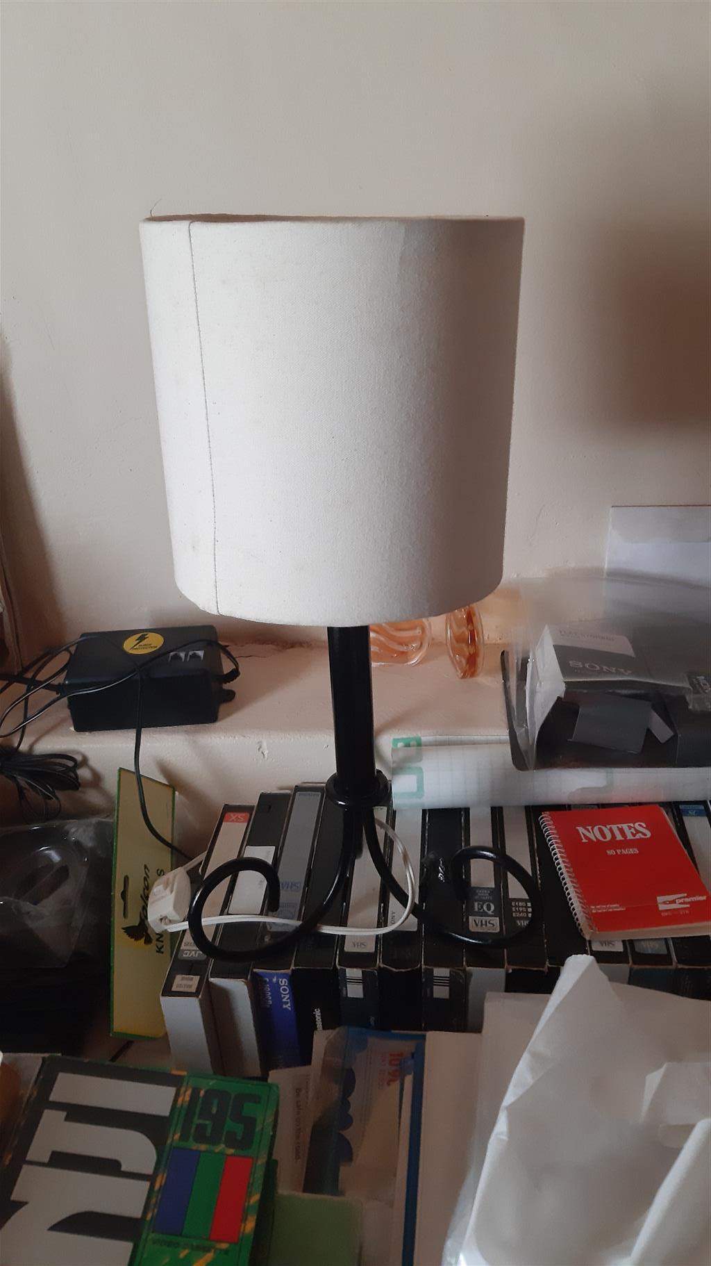 Brass Chandelier & Bedside Lamp