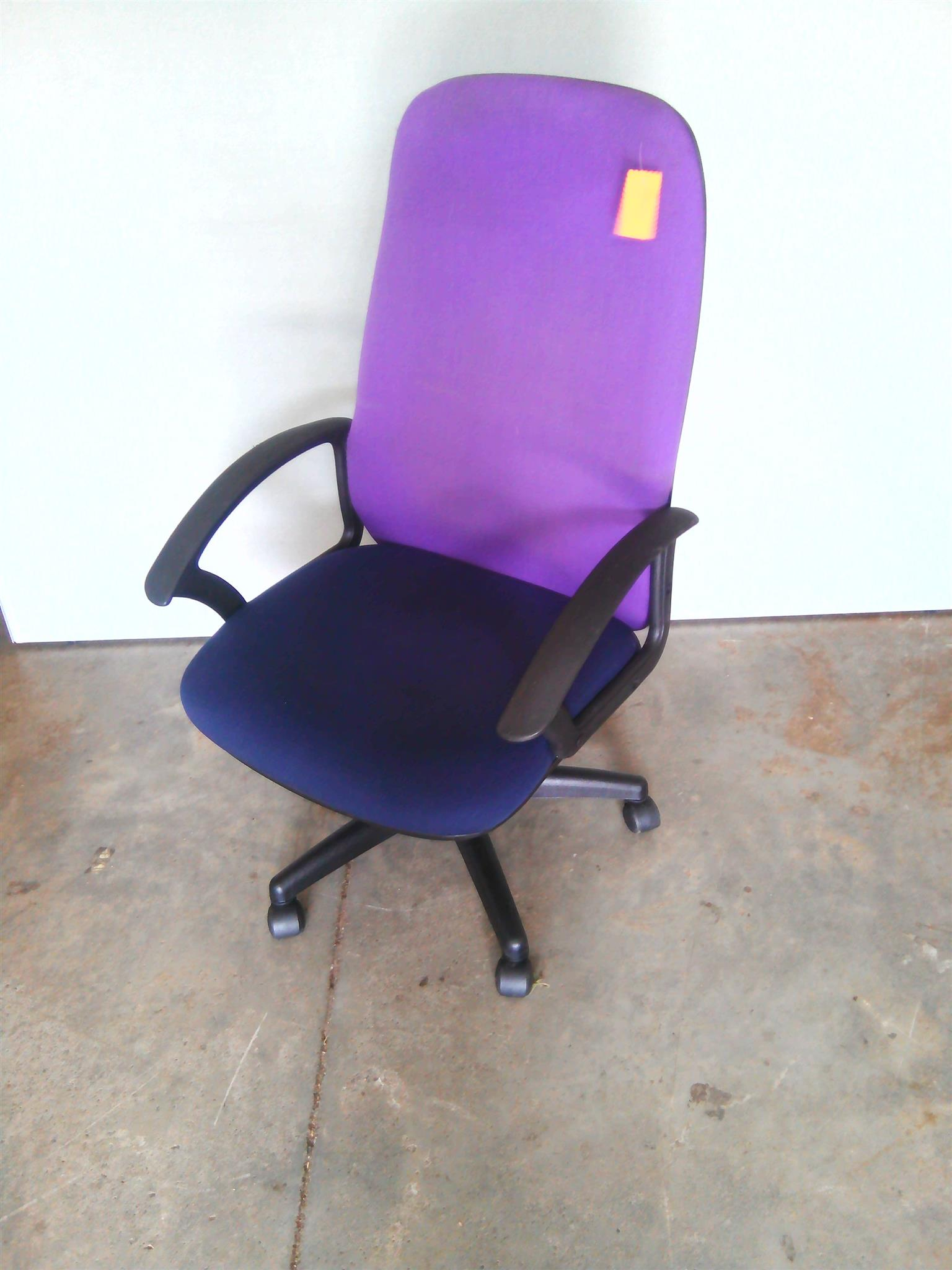 Purple and Blue  high back fabric chair