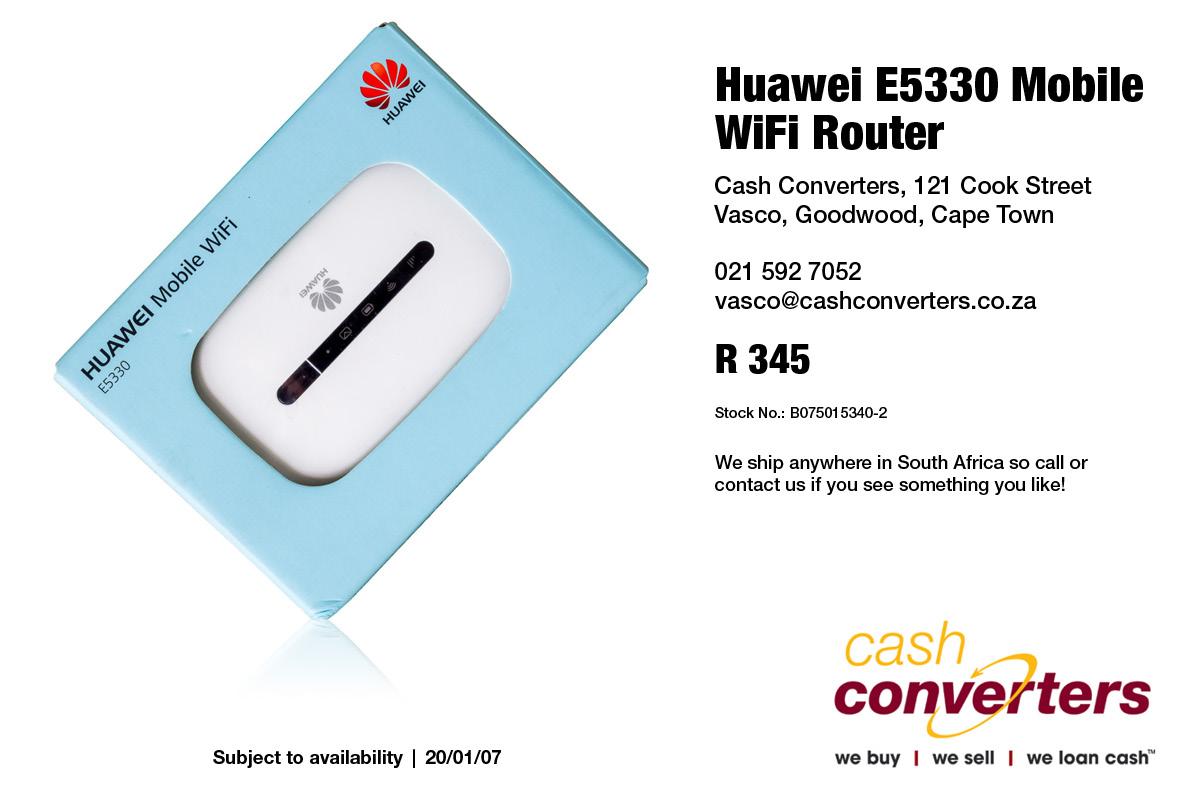 Huawei E5330 Mobile WiFi Router