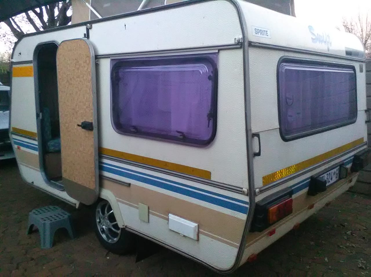 sprite sprint with full tent and big fridge and freezer in excellent condition must be seen