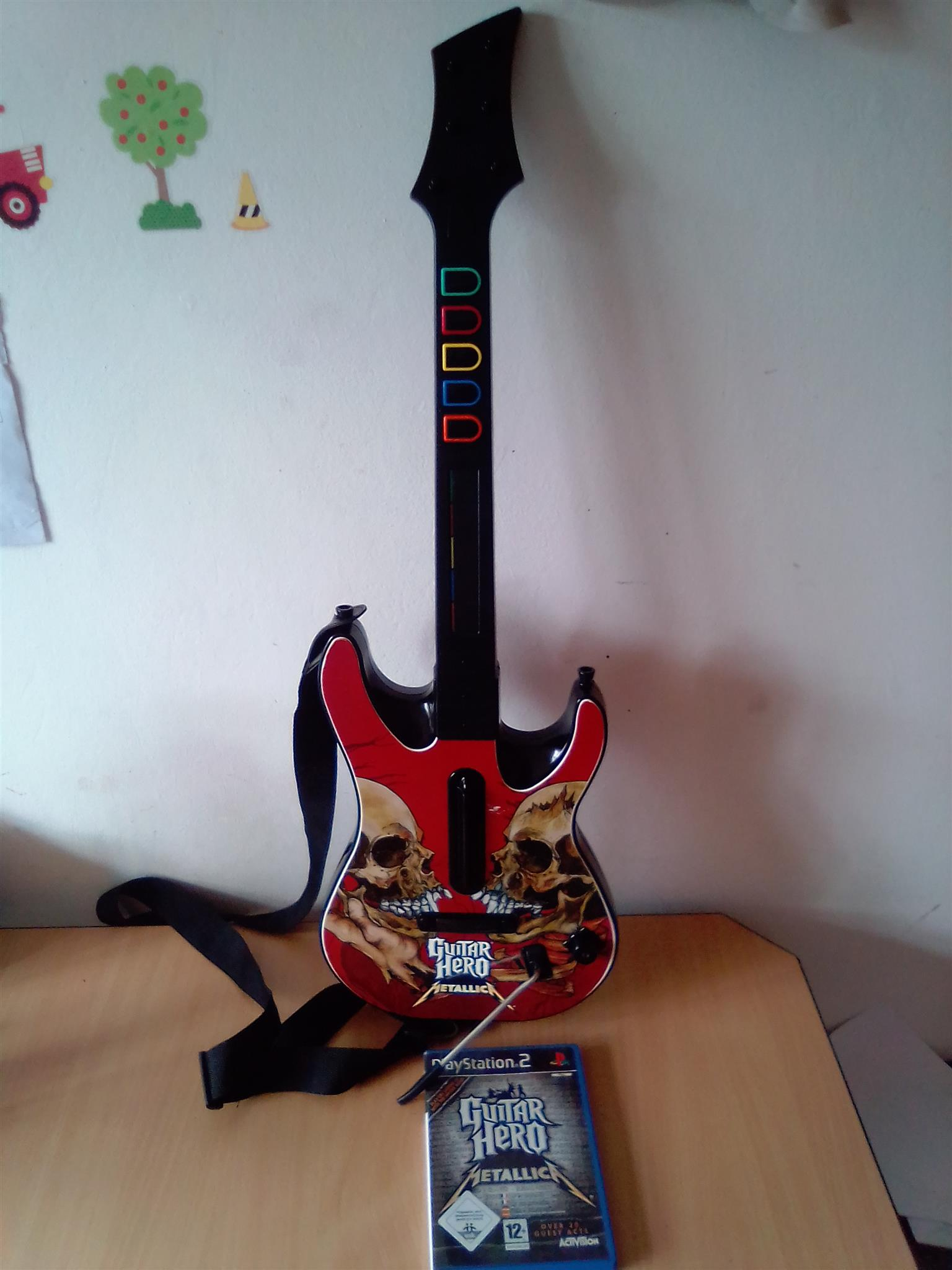 Guitar Hero Metallica Wireless Controller and the Game for PS2