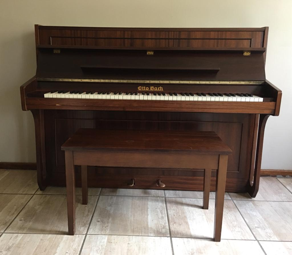 Otto Bach 1903 Piano and Chair