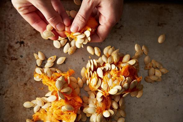 Available free unclean pumpkin seeds or kernel throwaways