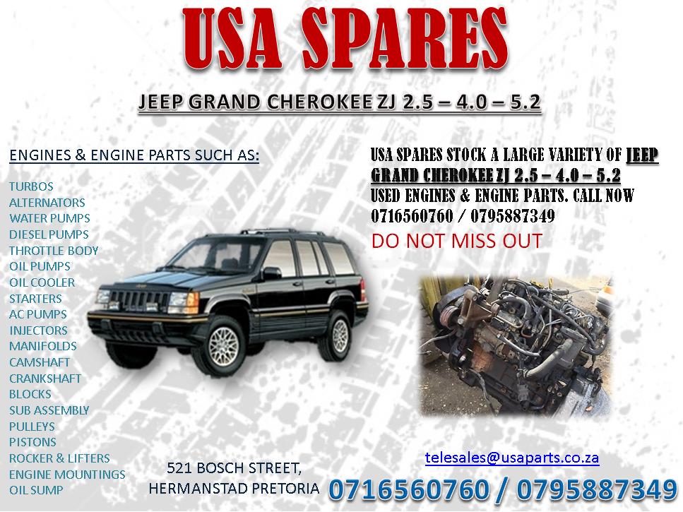 4 0 Jeep Engine >> Jeep Grand Cherokee Zj 2 5 4 0 5 7 Engines And