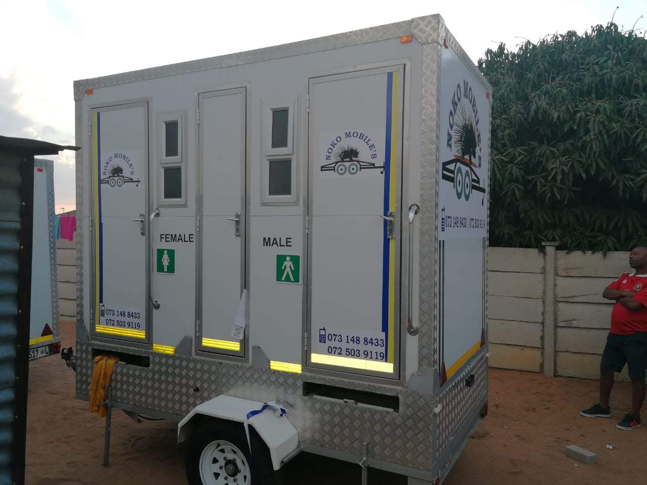 Mobile VIP toilets and mobile freezer
