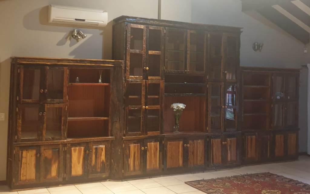 Large Sleeper Wood Cabinet