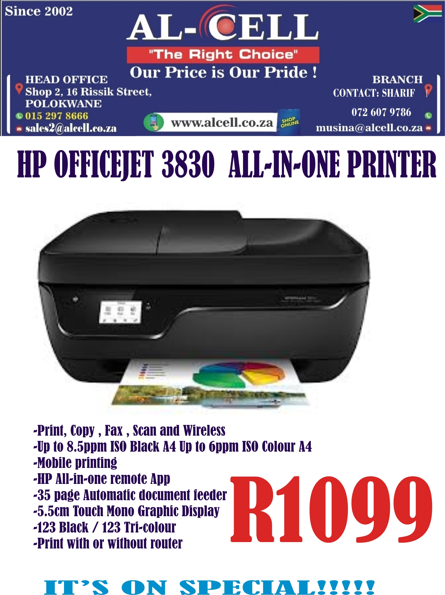 HP Officejet 3830 All In One Printer   Junk Mail