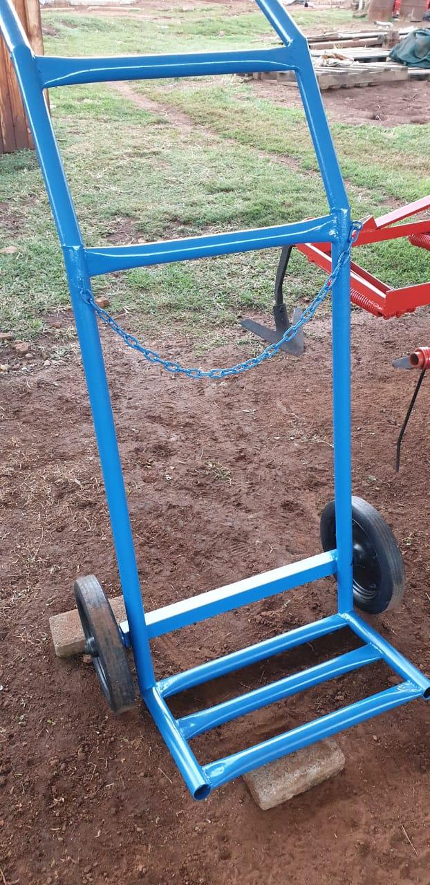 trolley for gasbottles