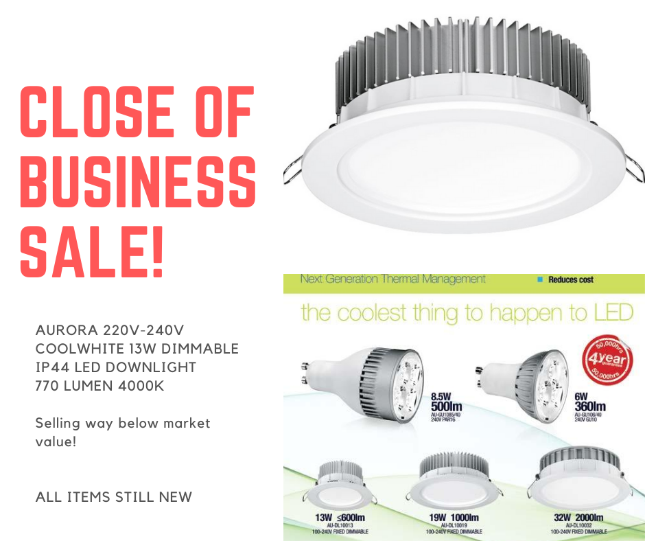 Aurora 13W Dimmable LED Dwonlight 220V