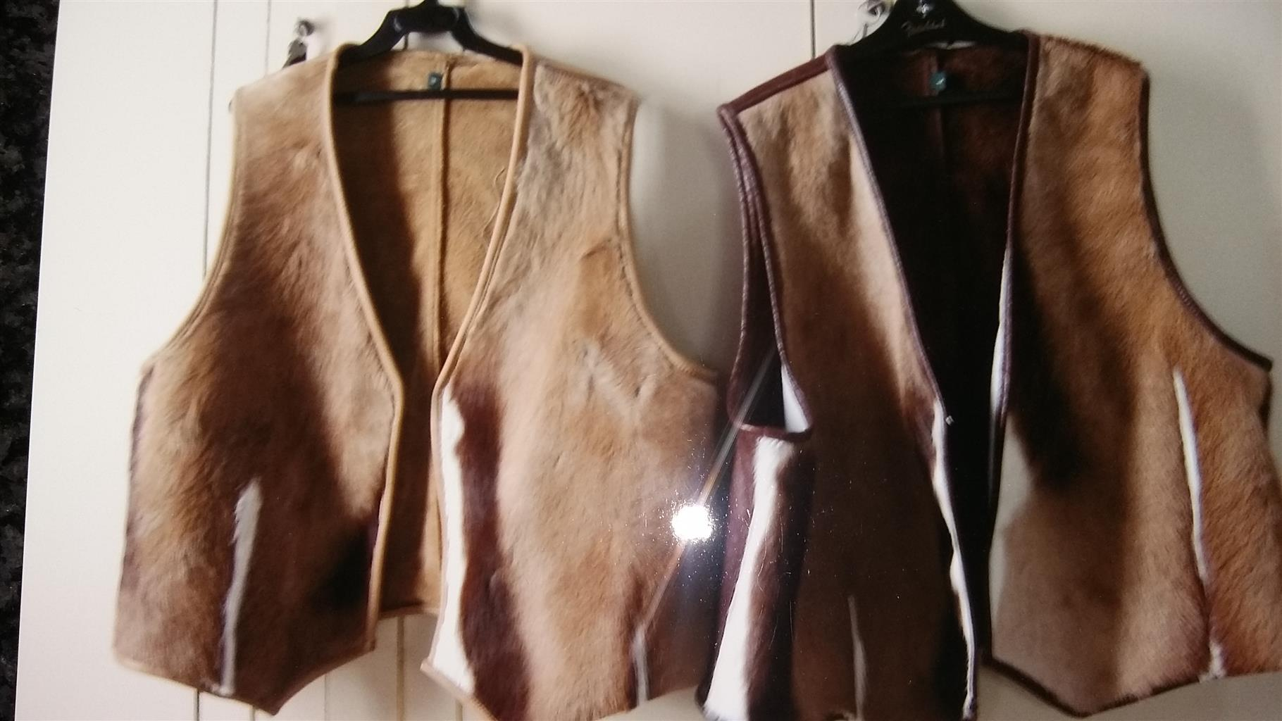 sleevless springbok skin jackets