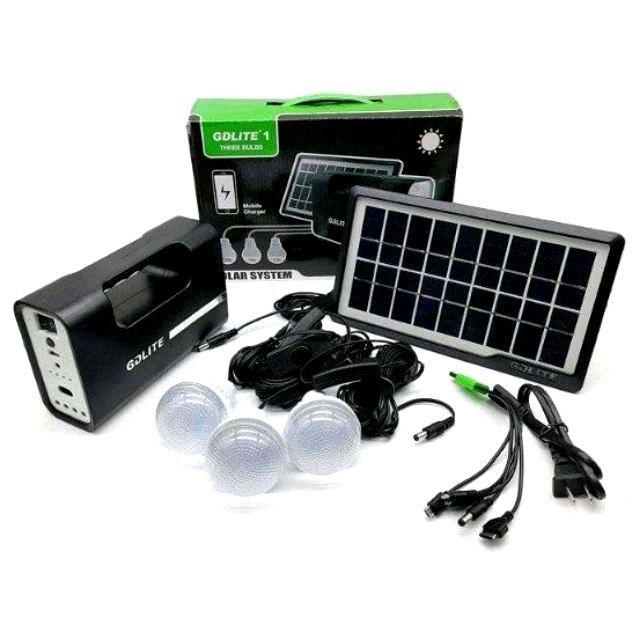 Portable Solar Charger with Lights