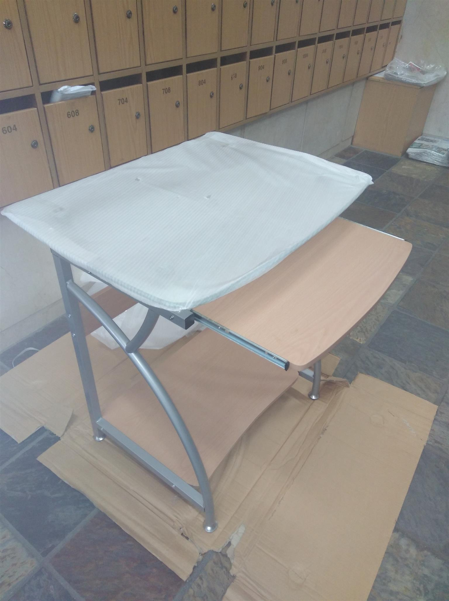 Glass top computer desks brand new and boxed