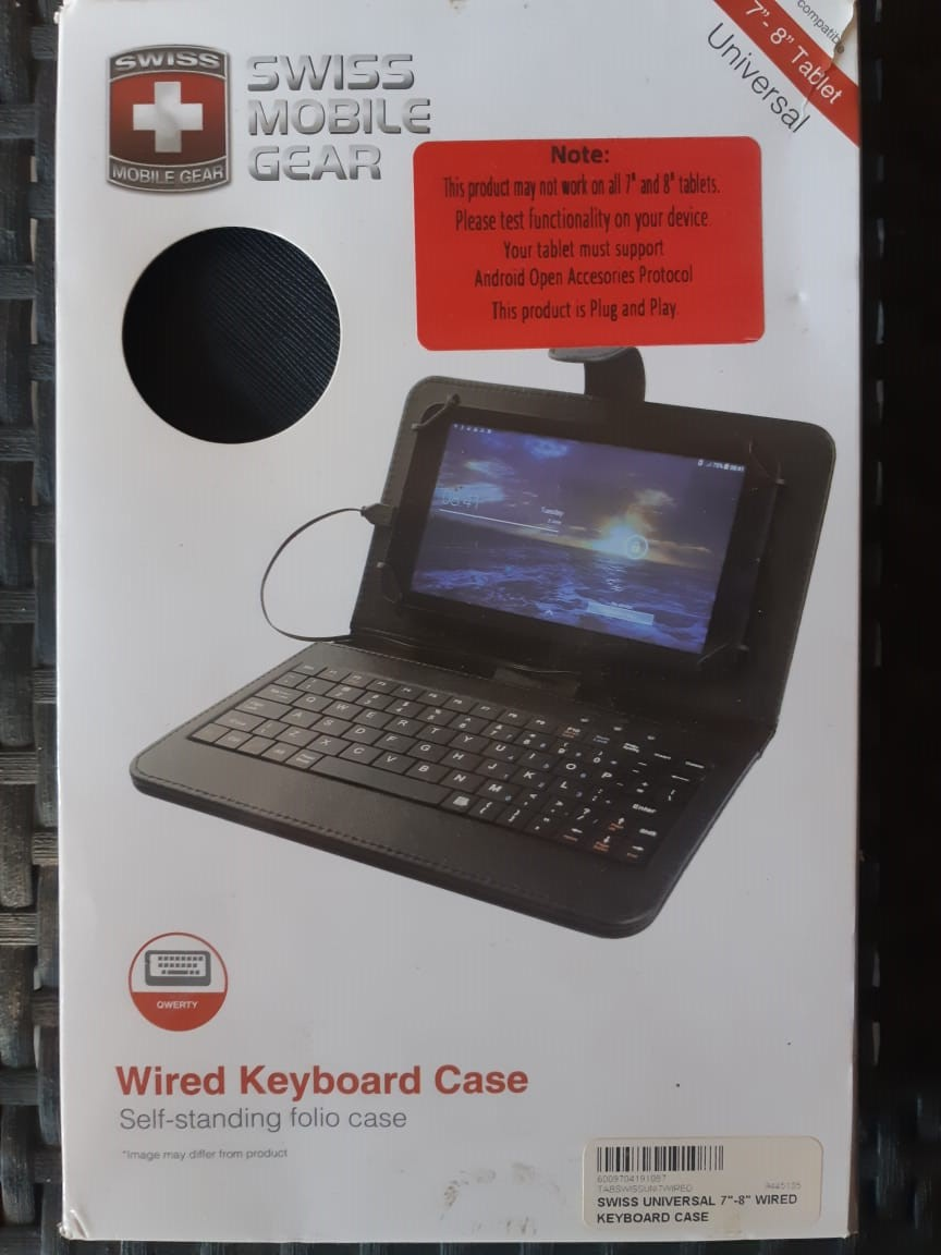 """Universal Wired Keyboard Case (for 7"""" - 8"""" Android Tablets) for sale"""