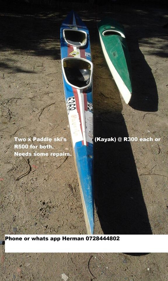 Two paddle ski kayaks for sale
