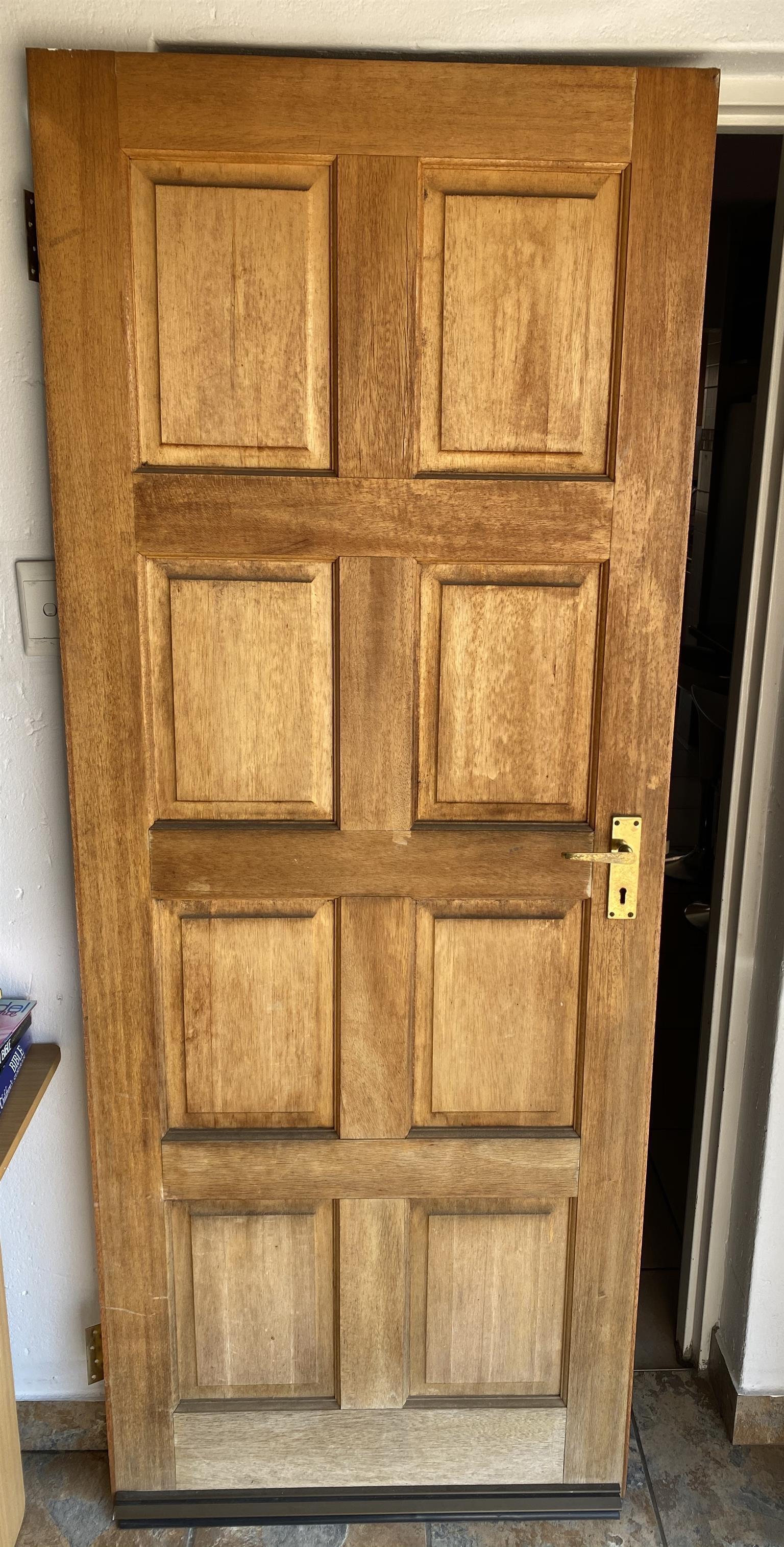 8 panel wooden door