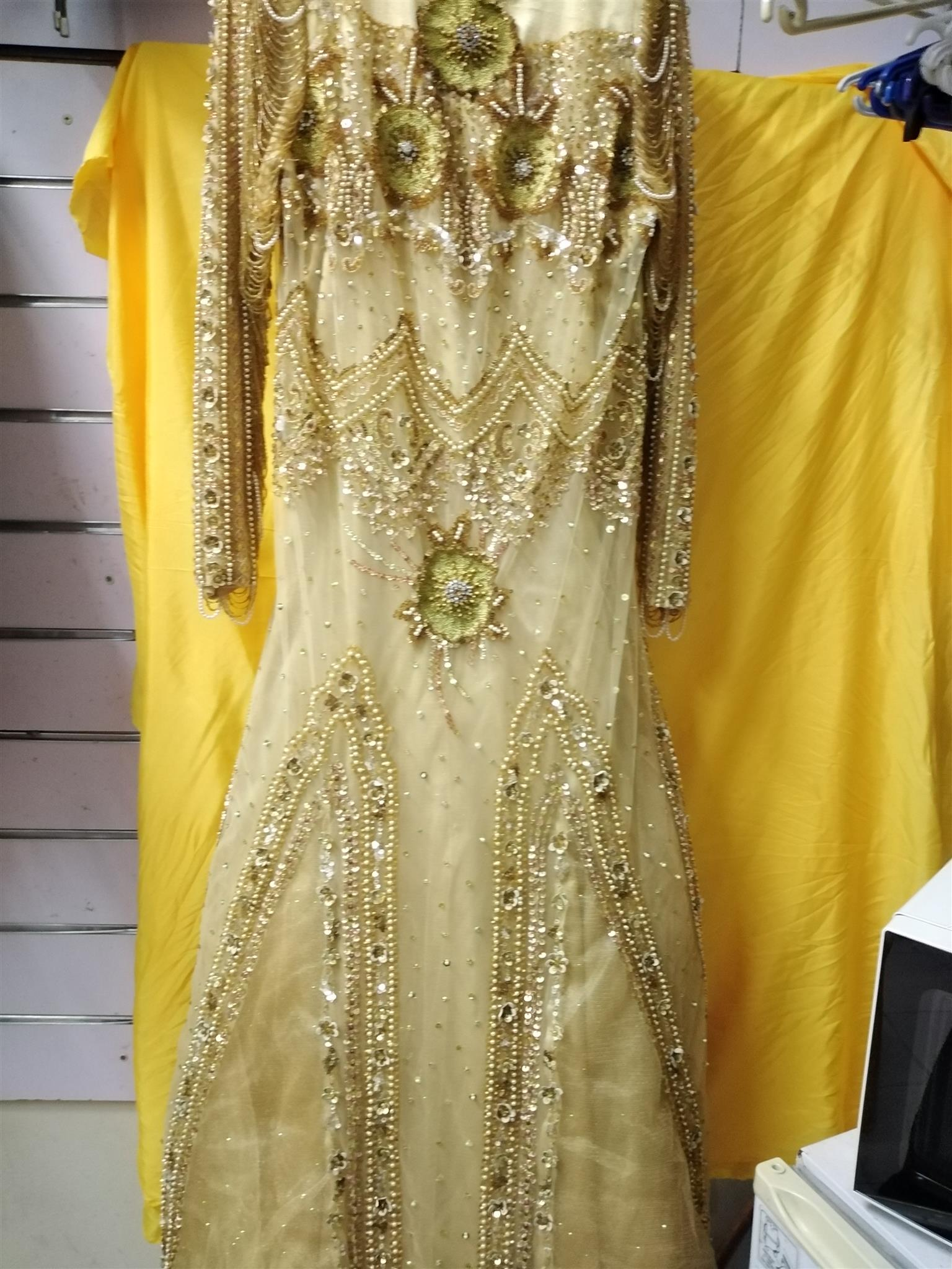 GOLD BEADED WEDDING GOWN
