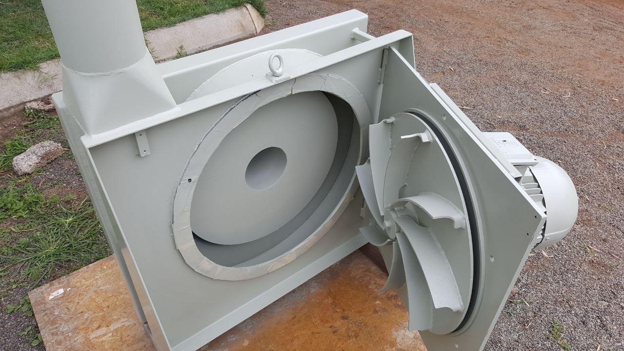 Inline material blower 7 5WEG motor
