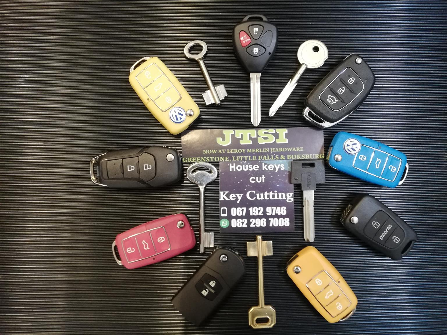Spare keys and caseings for cars
