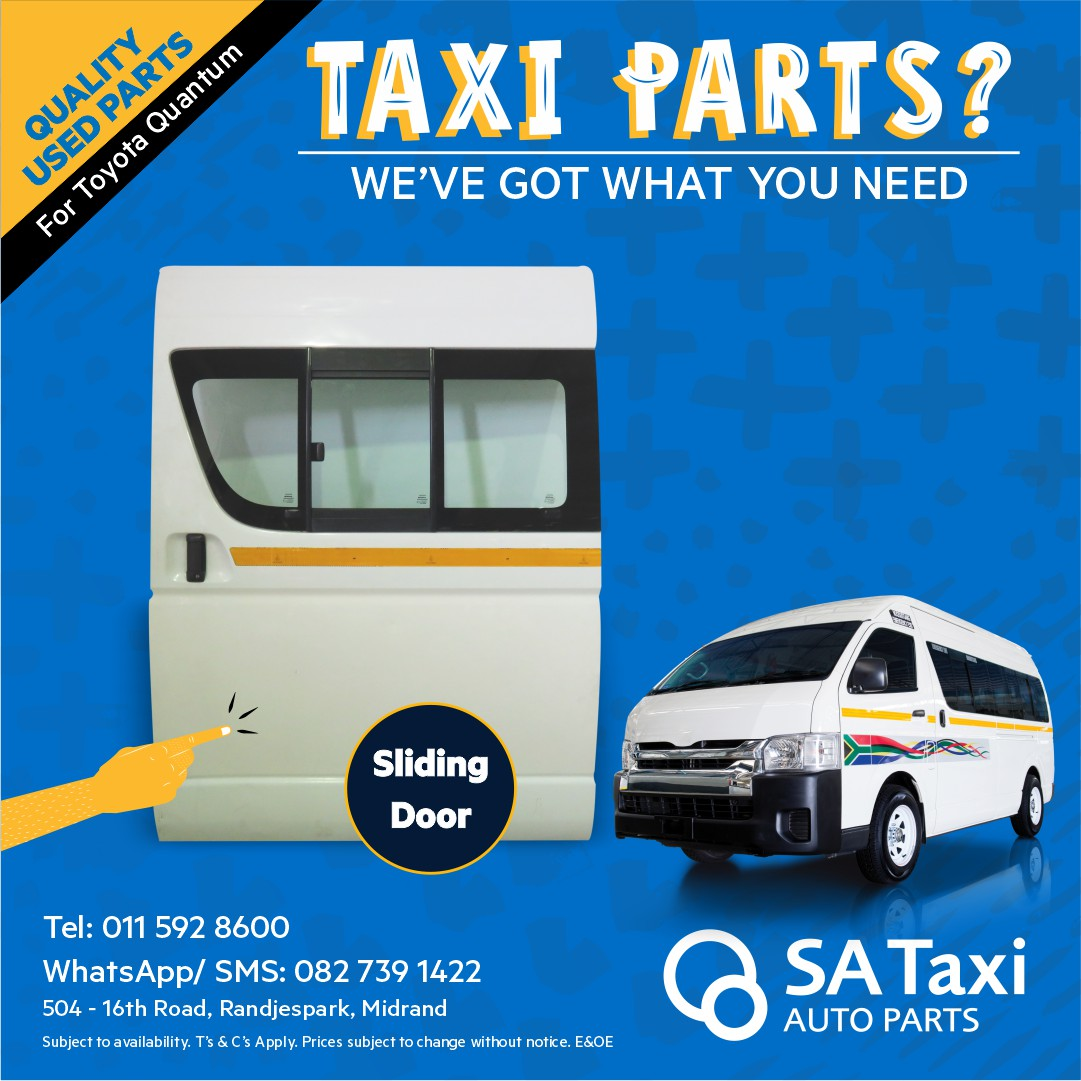 Sliding Door suitable for Toyota Quantum - SA Taxi Auto Parts quality used spares