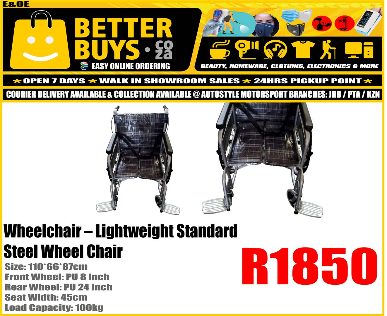 Lightweight Standard Steel Wheel Chair