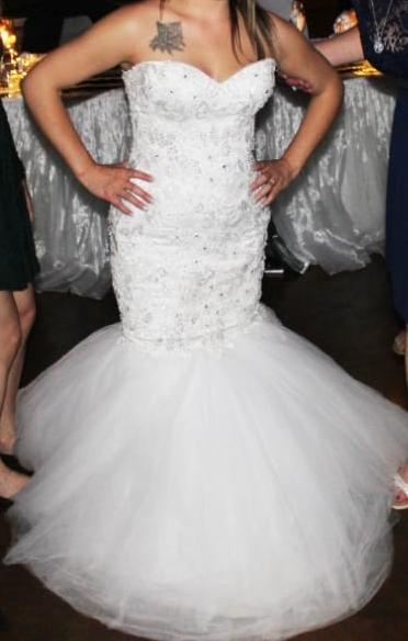 White Mermaid WEdding Dress bought from Eurobride