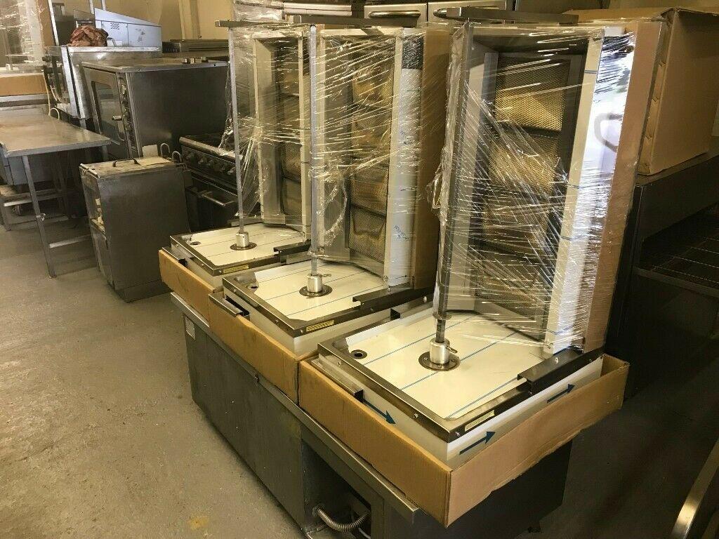 4 Burners LPG Vertical Broiler Shawarma Machine