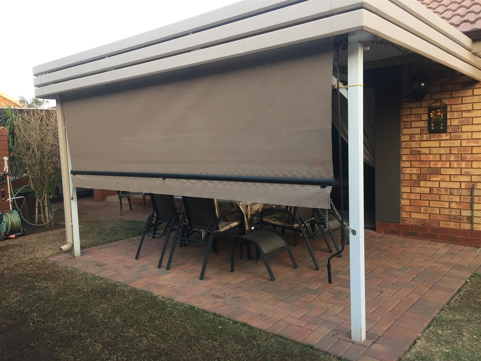 Patio Free Hang Rollup Blind