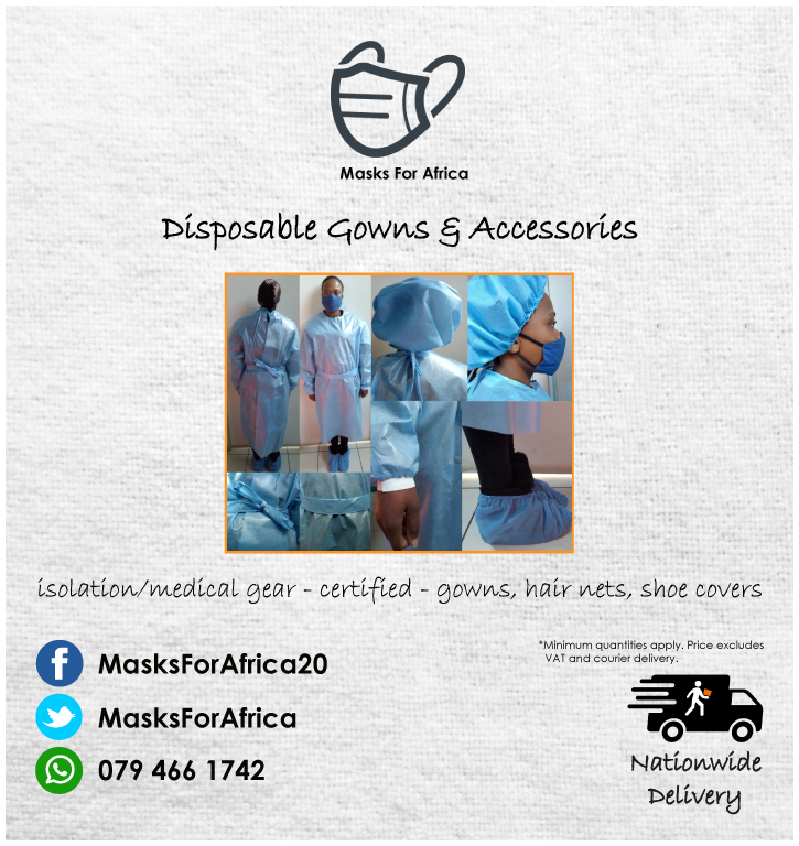 Disposable Isolation Gowns, Hair Nets & Shoe Covers