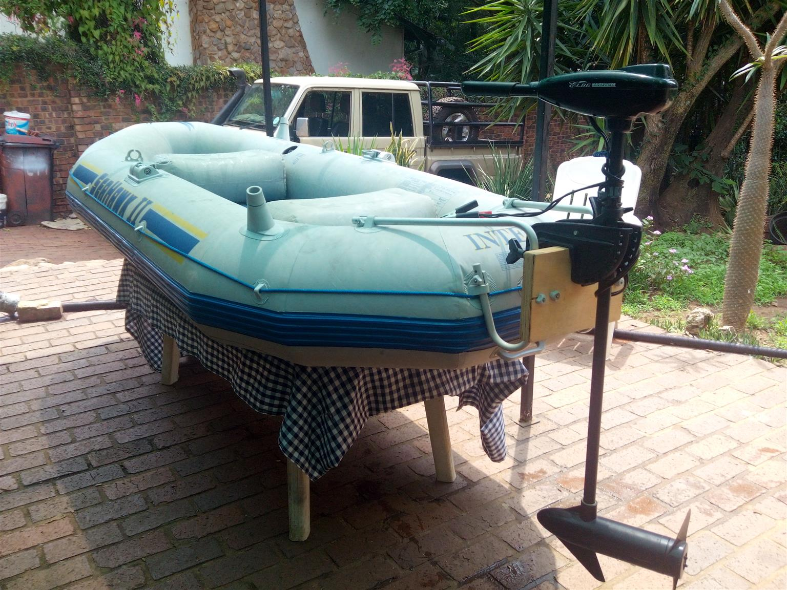 Intex Seahawk 2 Inflatable Boat for Sale! With Electric Motor
