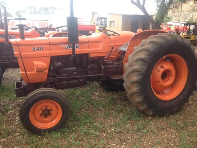 Orange Fiat 640 2x4 Pre-Owned Tractor