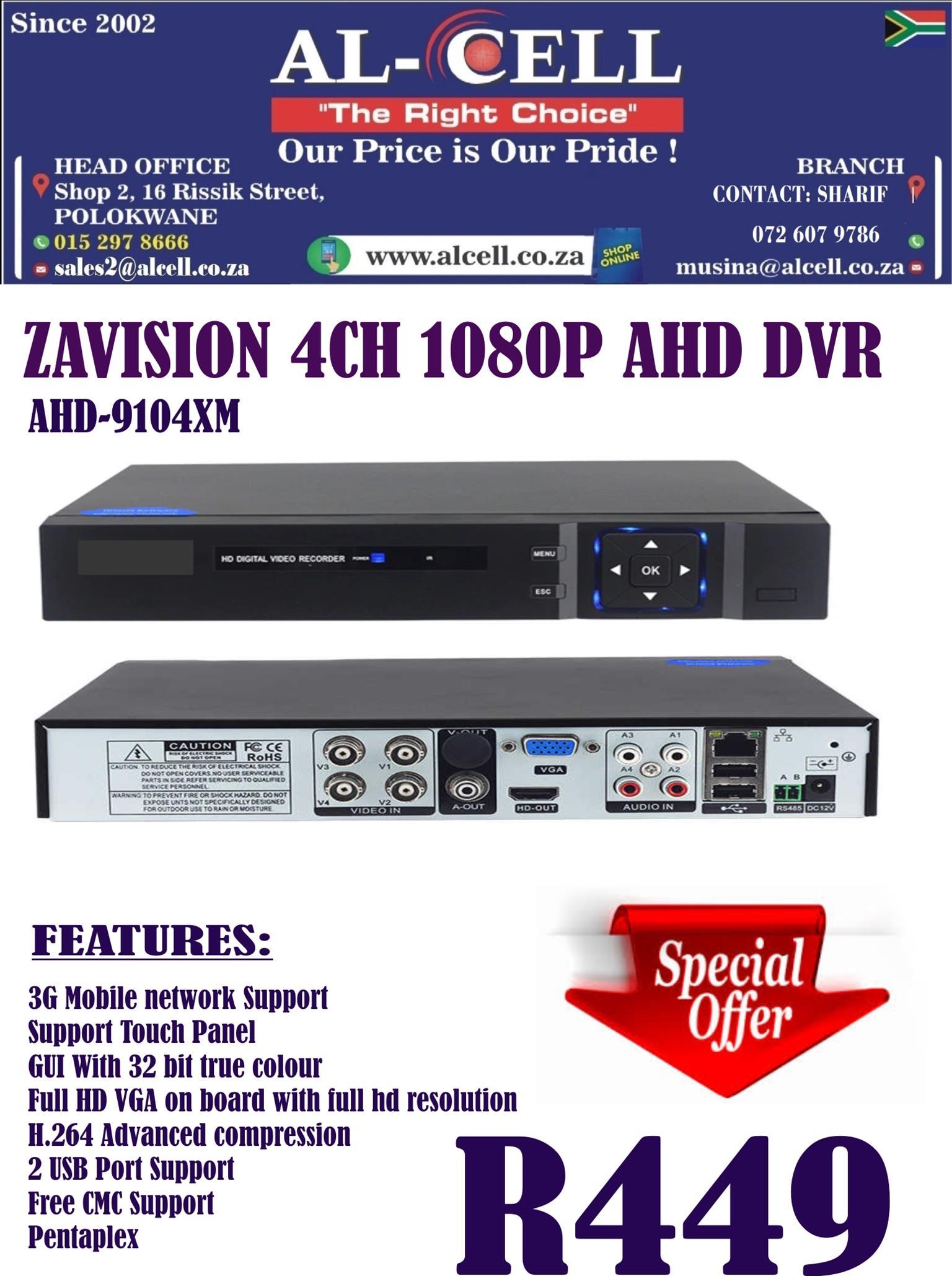Zavision 1080P 4 Channel Dvr