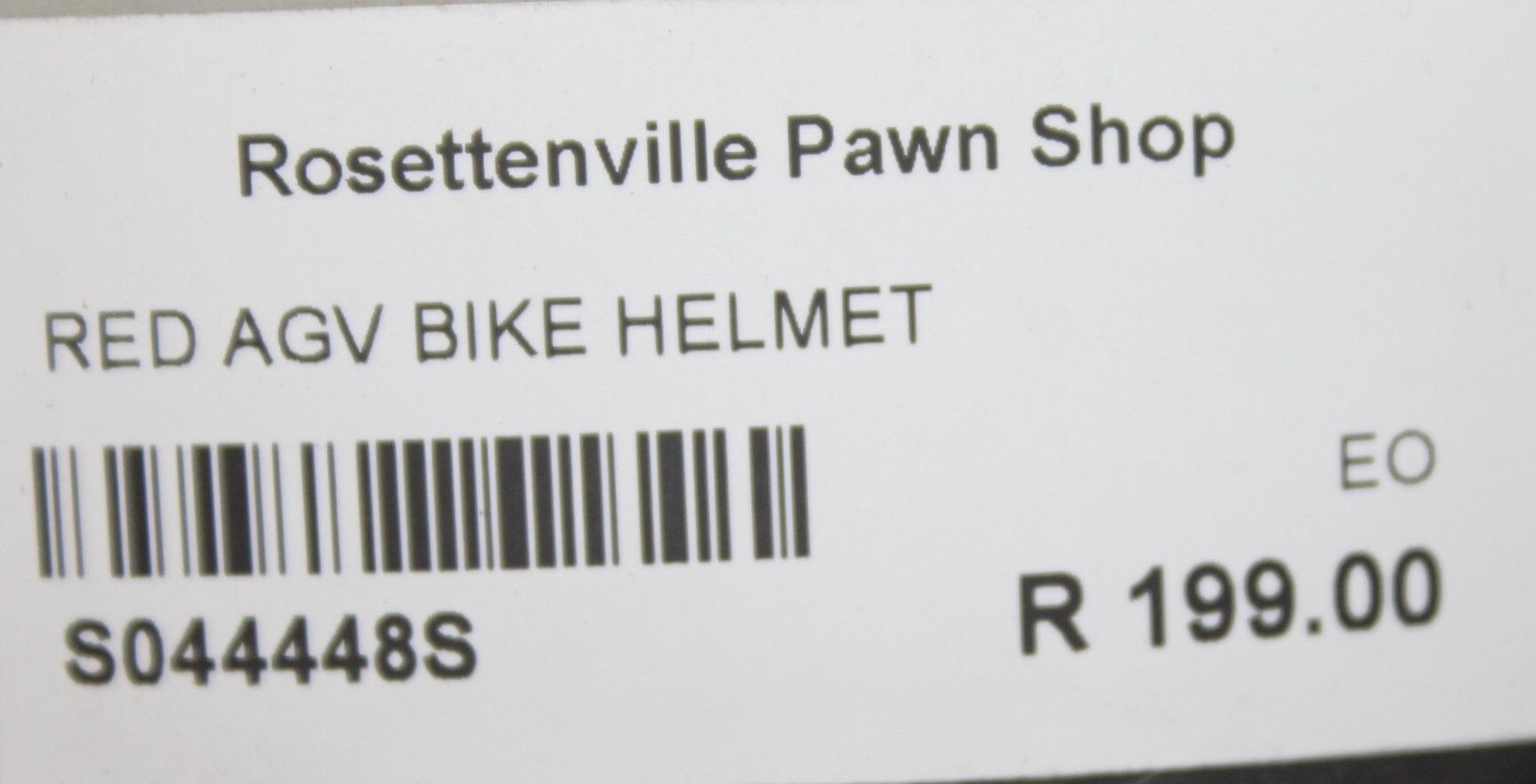 RED AGV BIKE HELMET S044448S #Rosettenvillepawnshop