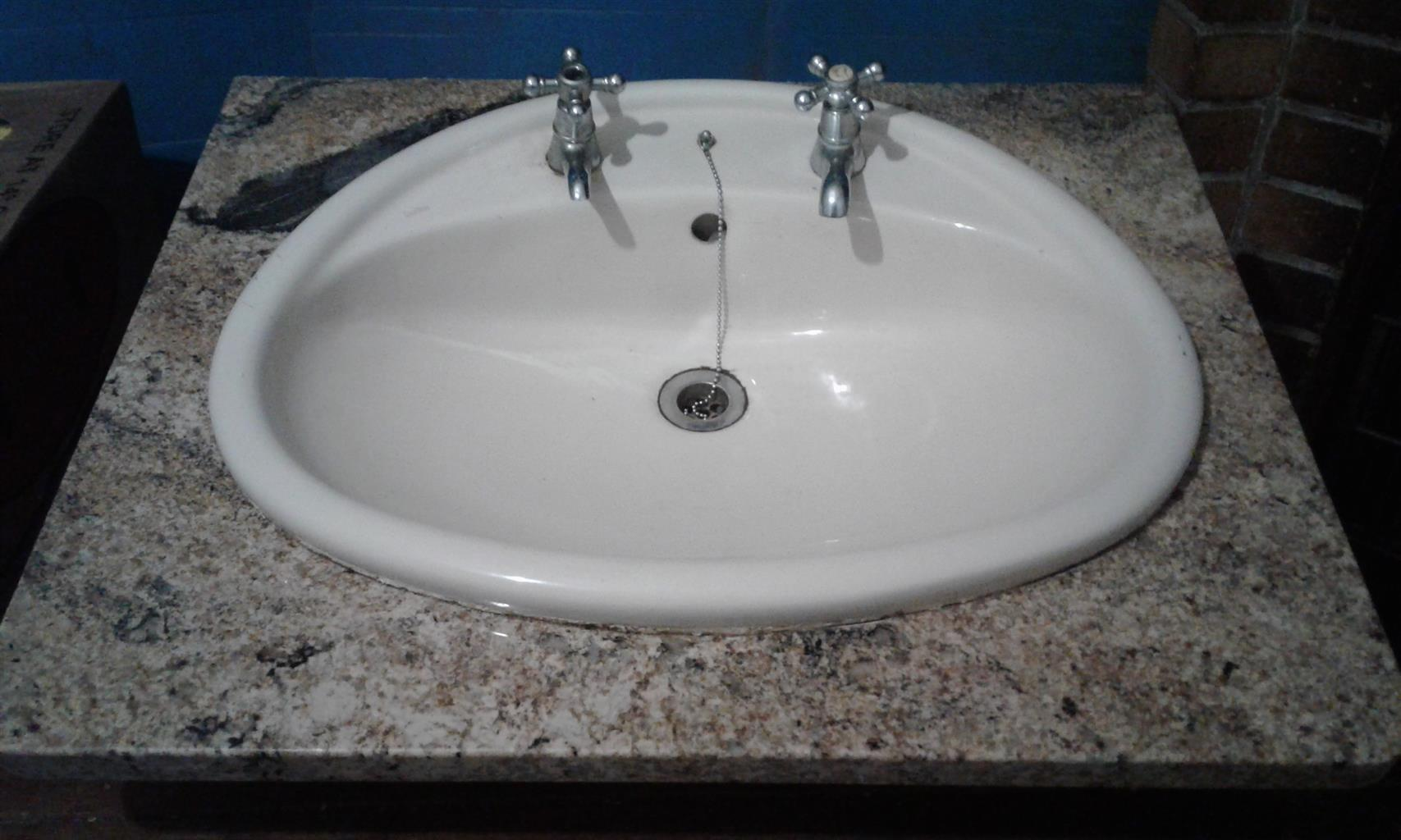 bath sink with marble n incl taps